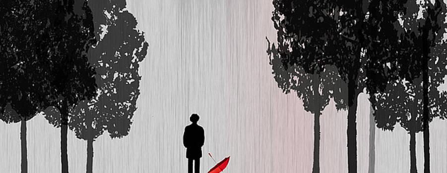 Man in Rain by Jim Kuhlmann