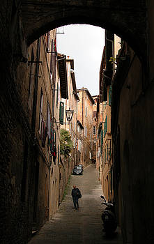 Man in street-Siena by Jim Wright