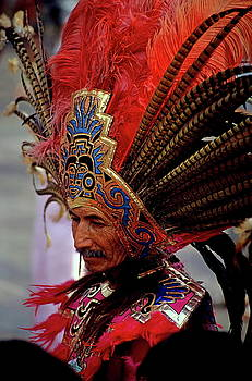 Sami Sarkis - Man in traditional headdress to celebrate the Day of the Virgin of Guadalupe on December 12th in Mexico City
