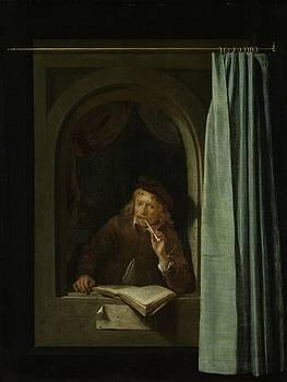 Man Smoking a Pipe by Gerard Dou