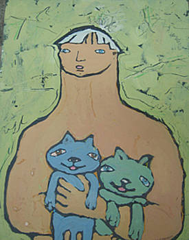Man With A Cat by Carl Stevens