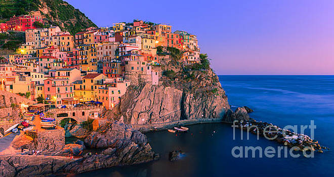 Manarola is one of the five towns that make up the Cinque Terre  by Henk Meijer Photography