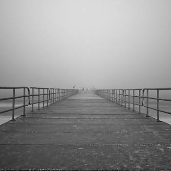 Rolf Bertram - Manatee Beach Pier in Fog Infrared 39