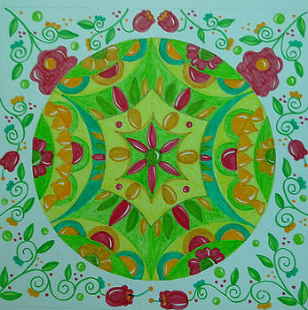 Mandala art by Jilly Curtis