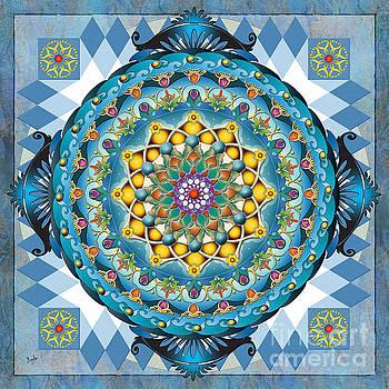 Mandala Blue Crown by Bedros Awak