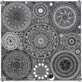 Mandala Bouquet by Matthew Ridgway