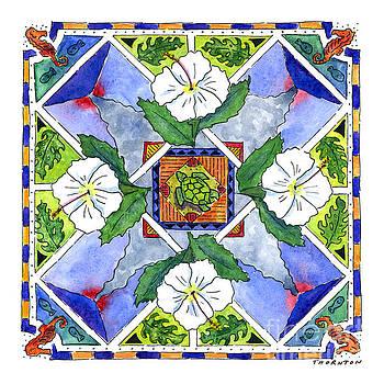 Mandala III - WHITE HIBISCUS by Diane Thornton