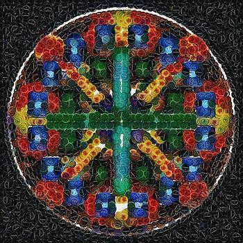 Mandala in Bottlecaps by Mario Carini