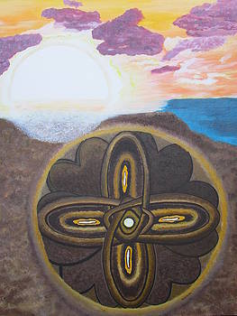 Mandala in the Sand by Cheryl Bailey