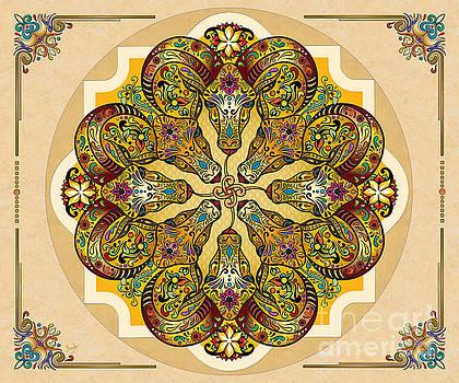 Mandala Sacred Rams - Bright Version Sp by Bedros Awak
