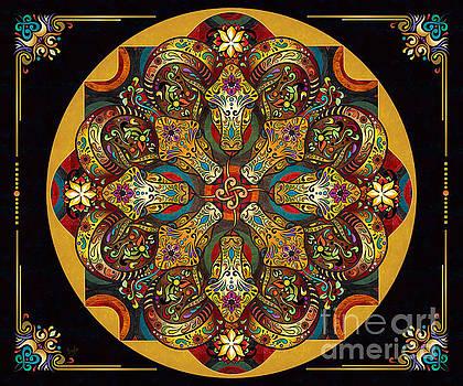 Mandala Sacred Rams - Dark Version Sp by Bedros Awak