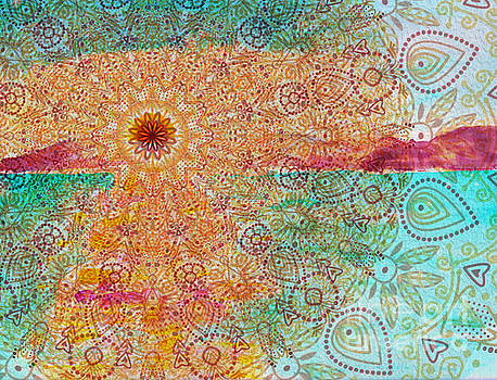 Mandala Sets Over The Dunes by Shelley Myers