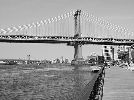 Manhattan Bridge from Brooklyn Bridge Park by Emmy Marie Vickers
