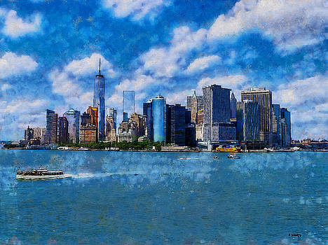 Manhattan Skyline by Kai Saarto