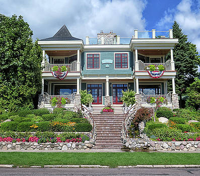 Mansion In Harbor Springs Michigab by Dave Mills