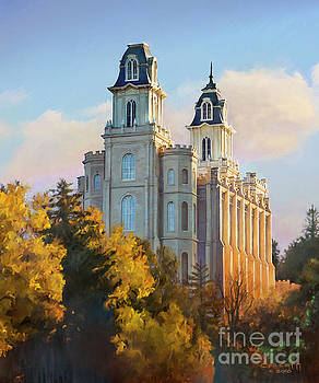 Manti temple tall by Rob Corsetti