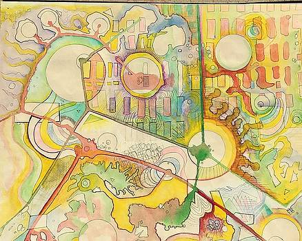 Map of Imaginary City by Douglas Fromm
