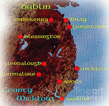 Map Of Wicklow by Val Byrne