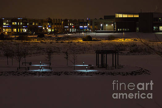Maple Grove City Center in Winter by Gary Rieks