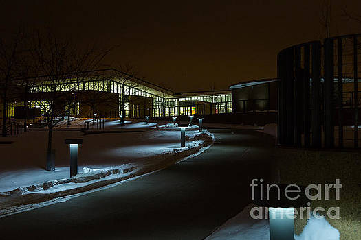 Maple Grove Library in Winter by Gary Rieks