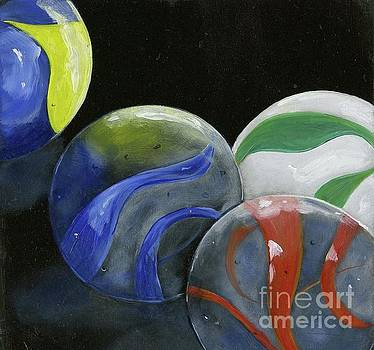 Marbles Still Life by Sheryl Heatherly Hawkins