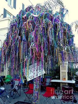 Mardi Gras 2016 Bead Tree On St. Charles Avenue by Michael Hoard