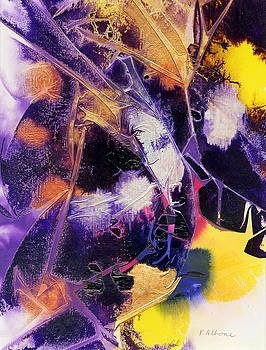MARDI GRAS acrylic abstract painting by Phil Albone
