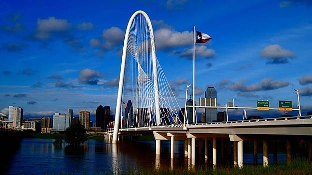 Margaret Hunt Hill Bridge Dallas Flood by Kathy Churchman