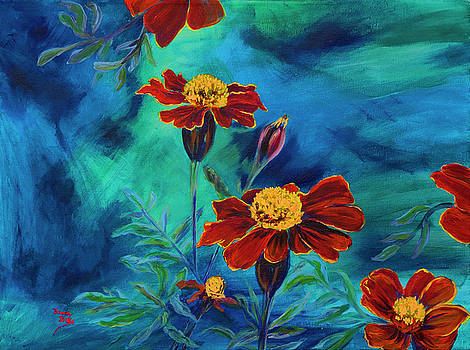 Marigolds by Donna Drake