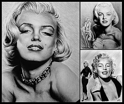 Marilyn collage 2 by Andrew Read