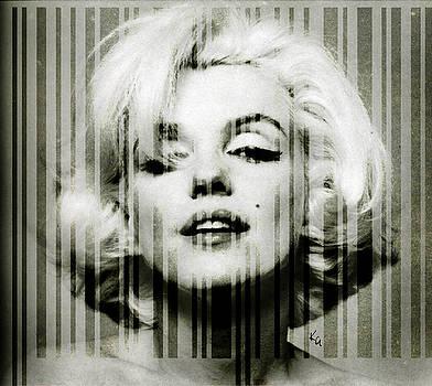 Marilyn Monroe barcode by Kim Gauge