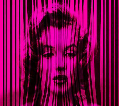 Marilyn Monroe in Hot Pink Stripes by Kim Gauge