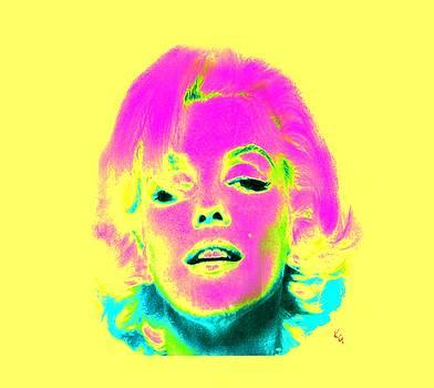 Marilyn Monroe in Psychedelic color by Kim Gauge