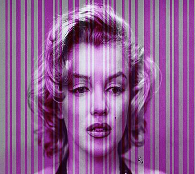 Marilyn Monroe in Purple by Kim Gauge
