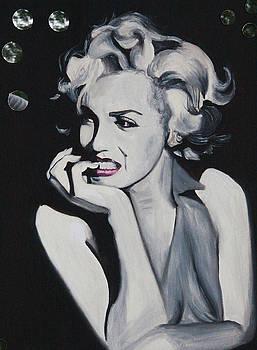 Marilyn Monroe Portrait by Mikayla Ziegler