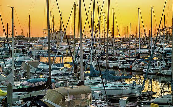 Marina Sunset by April Reppucci