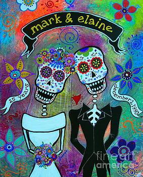 PRISTINE CARTERA TURKUS - MARK AND ELAINE DIA DE LOS MUERTOS WEDDING COUPLE
