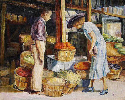 Market Day by Diane Kraudelt