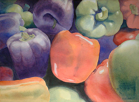 Market Peppers by Lynn Millar