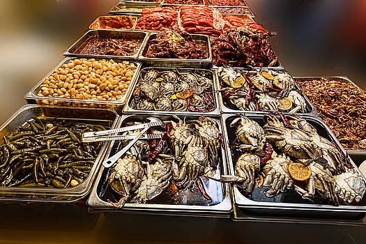 Market Place Crabs and More by James BO Insogna