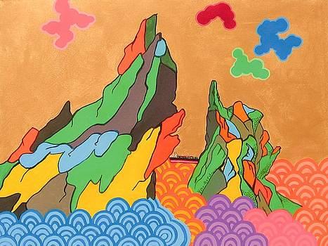 Married Rock along the North California by Takayuki  Shimada