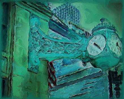 Marshall Fields Clock Chicago by M Zimmerman
