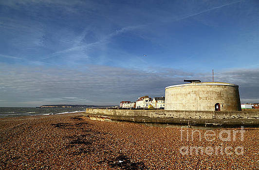 Martello Tower at Seaford Sussex by James Brunker
