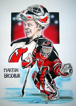 Martin Brodeur by Dave Olsen