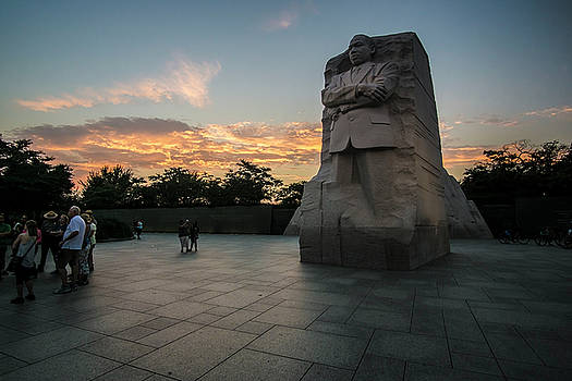Martin Luther King Memorial at dusk  by Sven Brogren