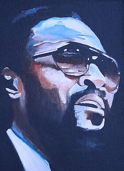 Marvin Gaye Portrait by Mikayla Ziegler