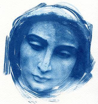 Mary Cyanotype  Blessed Virgin Mother of God by Jane Linders