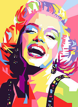 Marylin Monroe Pop Art by Ahmad Nusyirwan