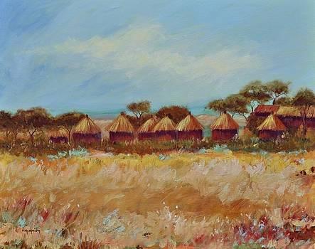 Masai Village  by Ginger Concepcion