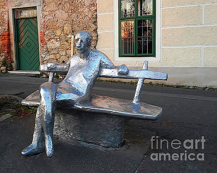 Matos On The Bench, Zagreb by Jasna Dragun